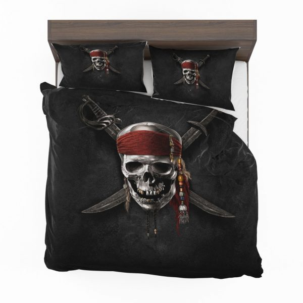 Pirates Of The Caribbean Movie Dead Skull Bedding Set 2