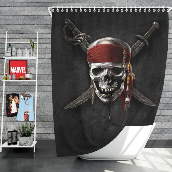 Pirates Of The Caribbean Movie Dead Skull Shower Curtain