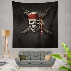 Pirates Of The Caribbean Movie Dead Skull Wall Hanging Tapestry