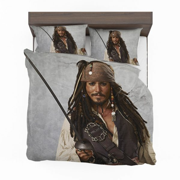 Pirates Of The Caribbean Movie Jack Sparrow Johnny Depp Bedding Set 2