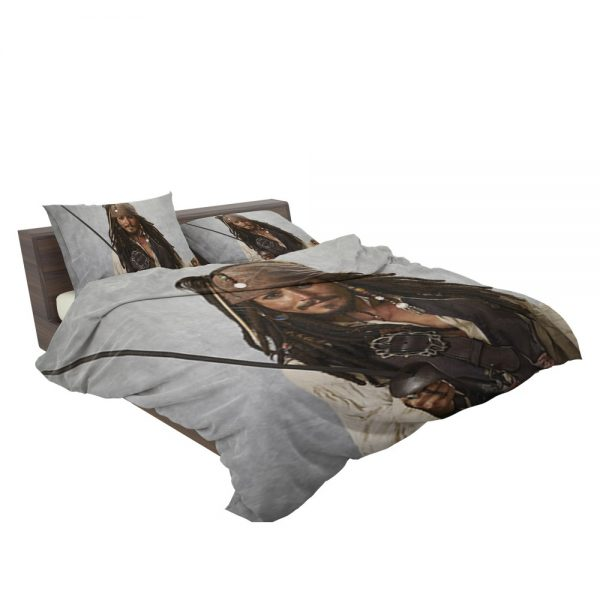Pirates Of The Caribbean Movie Jack Sparrow Johnny Depp Bedding Set 3