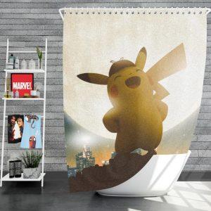 Pokémon Detective Pikachu Movie Pikachu Shower Curtain
