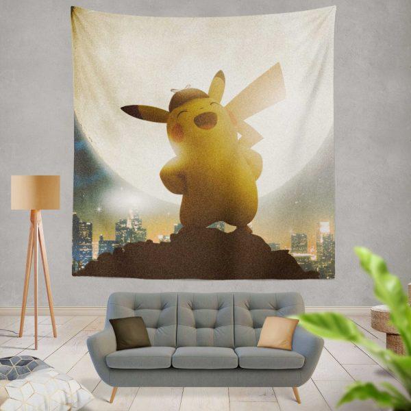 Pokémon Detective Pikachu Movie Pikachu Wall Hanging Tapestry
