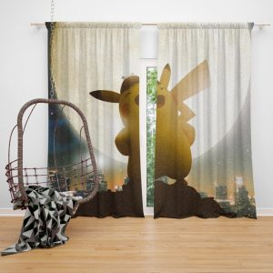 Pokémon Detective Pikachu Movie Pikachu Window Curtain