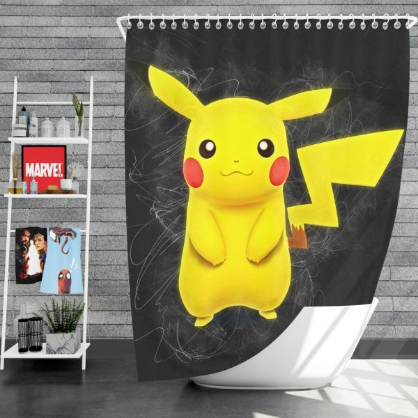 Pokémon Movie Pikachu Shower Curtain