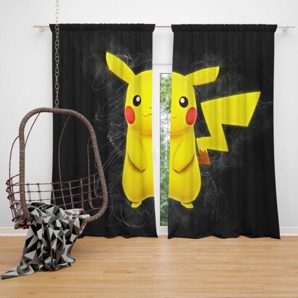 Pokémon Movie Pikachu Window Curtain