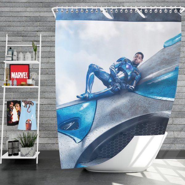 Power Rangers 2017 Movie Billy Cranston Blue Ranger Zord Shower Curtain