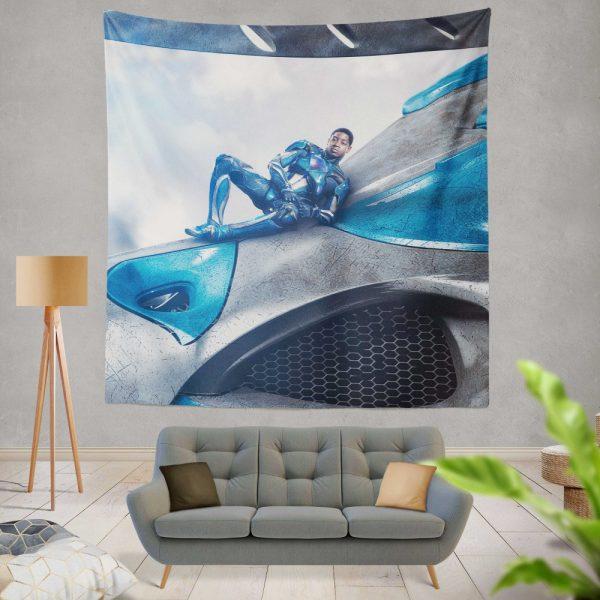 Power Rangers 2017 Movie Billy Cranston Blue Ranger Zord Wall Hanging Tapestry
