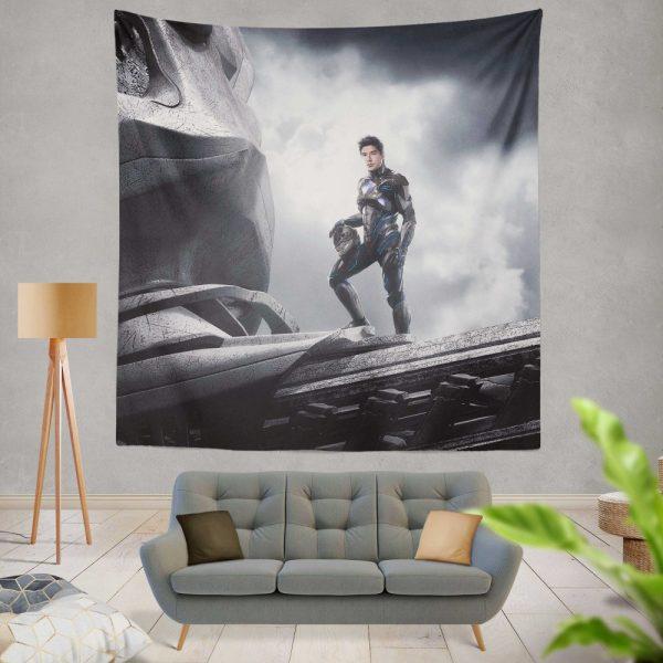 Power Rangers 2017 Movie Black Ranger Zack Taylor Zord Wall Hanging Tapestry