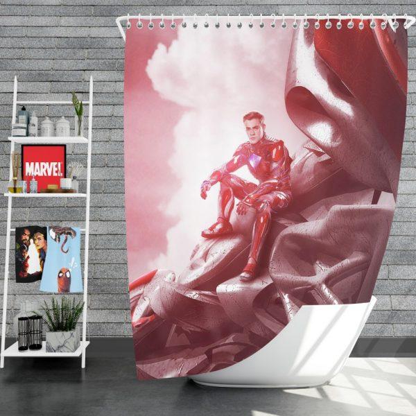 Power Rangers 2017 Movie Jason Lee Scott Red Ranger Zord Shower Curtain