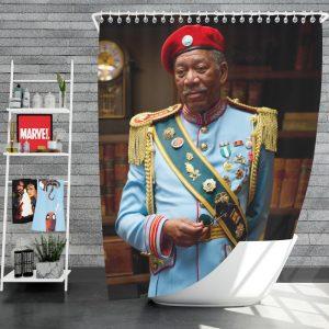 RED Movie Joe Matheson Morgan Freeman Shower Curtain