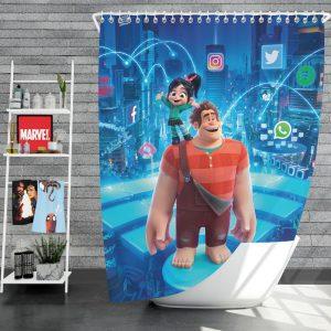 Ralph Breaks the Internet Movie Disney Vanellope von Schweetz Shower Curtain