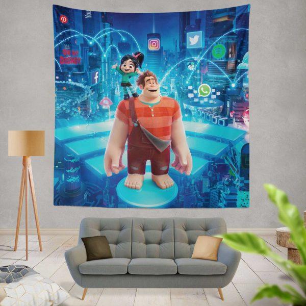 Ralph Breaks the Internet Movie Disney Vanellope von Schweetz Wall Hanging Tapestry