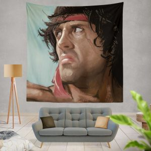 Rambo Movie Sylvester Stallone Wall Hanging Tapestry