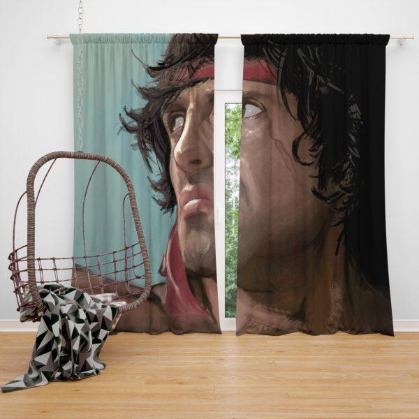 Rambo Movie Sylvester Stallone Window Curtain