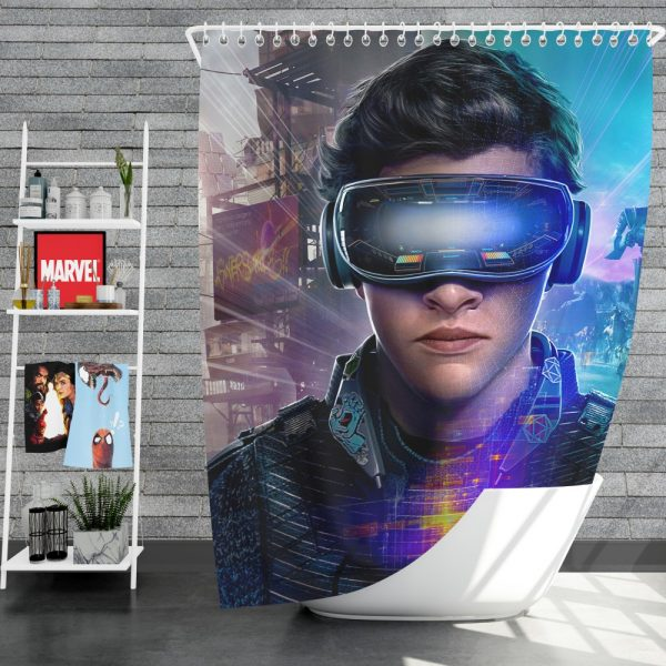 Ready Player One Movie Tye Sheridan Shower Curtain