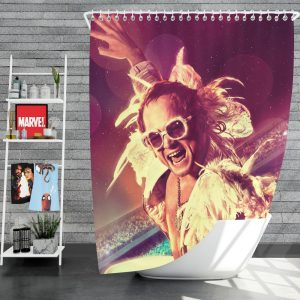 RocketMan Movie Taron Egerton Rocketman Shower Curtain