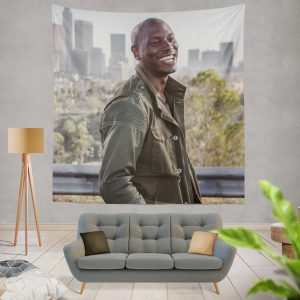 Roman Pearce Tyrese Gibson in Furious 7 Fast & Furious Wall Hanging Tapestry