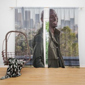 Roman Pearce Tyrese Gibson in Furious 7 Fast & Furious Window Curtain