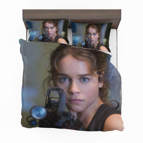 Sarah Connor Emilia Clarke in Terminator Genisys Movie Bedding Set 2