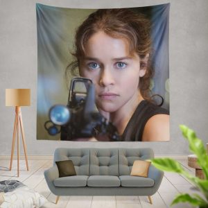 Sarah Connor Emilia Clarke in Terminator Genisys Movie Wall Hanging Tapestry