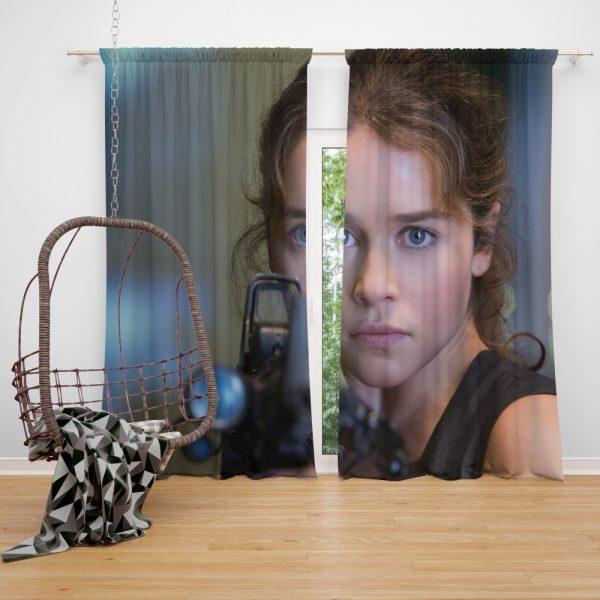 Sarah Connor Emilia Clarke in Terminator Genisys Movie Window Curtain