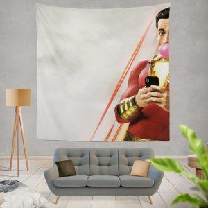 Shazam! Movie Bubble Gum Shazam DC Comics Zachary Levi Wall Hanging Tapestry
