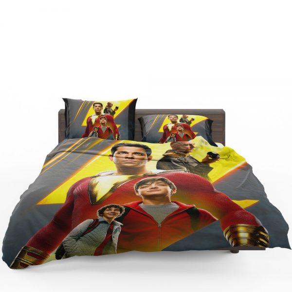 Shazam Movie DC Comics Zachary Levi Mark Strong Bedding Set 1