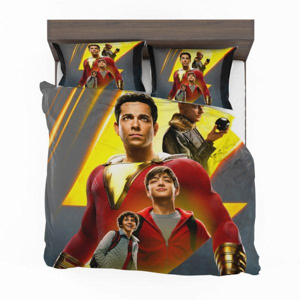 Shazam Movie DC Comics Zachary Levi Mark Strong Bedding Set 2