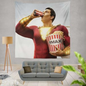 Shazam! Movie DC Comics Zachary Levi Wall Hanging Tapestry
