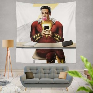 Shazam Movie Zachary Levi DC Wall Hanging Tapestry