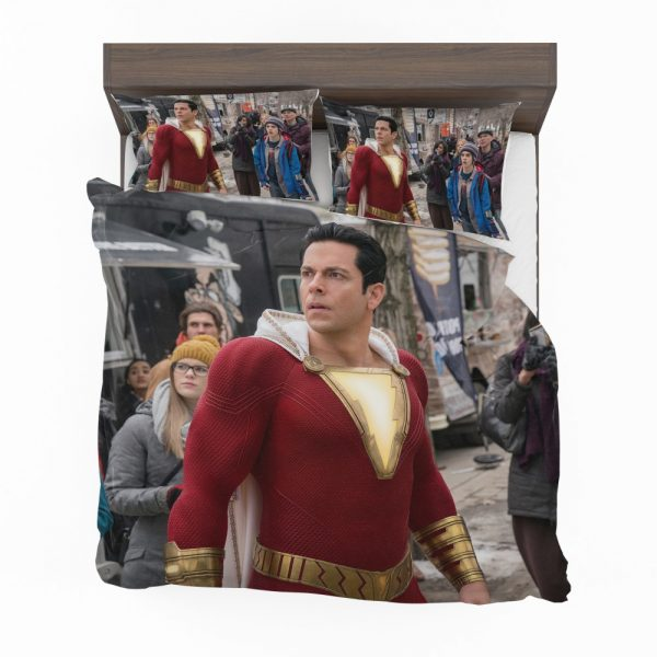 Shazam Movie Zachary Levi Jack Dylan Grazer Bedding Set 2
