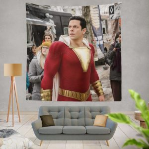 Shazam Movie Zachary Levi Jack Dylan Grazer Wall Hanging Tapestry