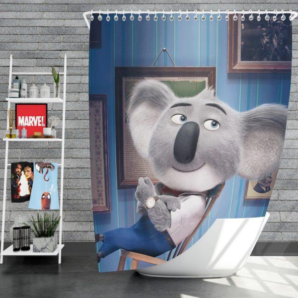 Sing Movie Buster Moon Koala Shower Curtain