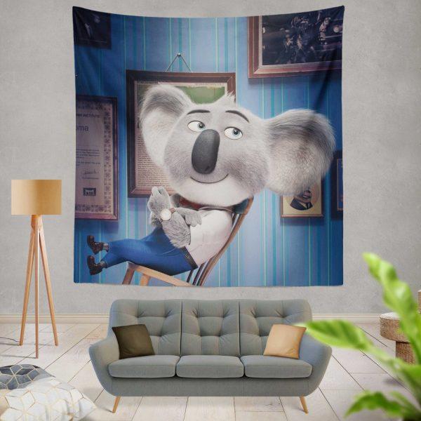 Sing Movie Buster Moon Koala Wall Hanging Tapestry