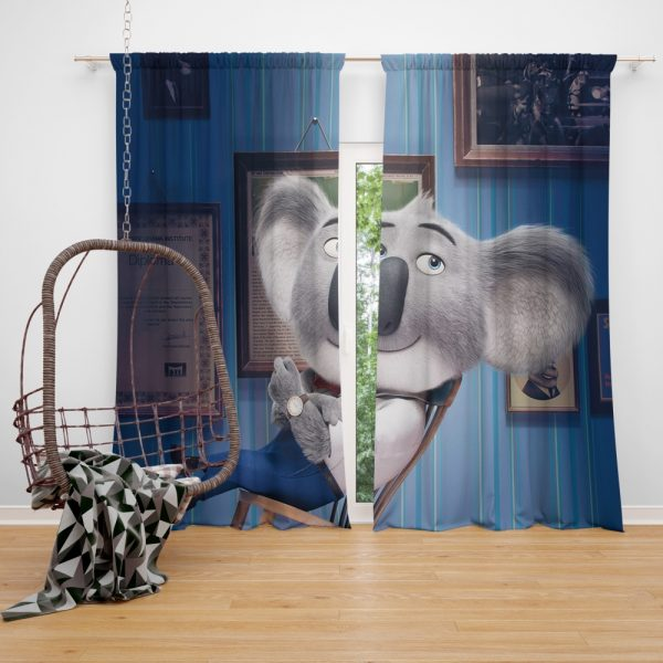 Sing Movie Buster Moon Koala Window Curtain