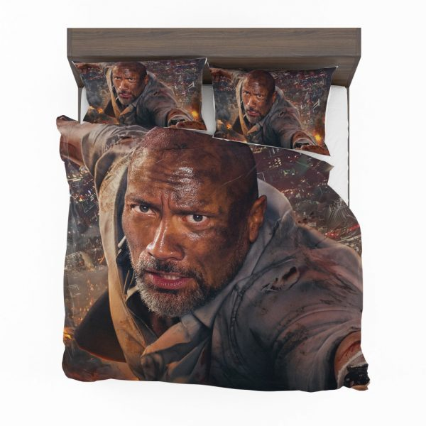 Skyscraper Movie Dwayne Johnson Bedding Set 2