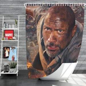Skyscraper Movie Dwayne Johnson Shower Curtain