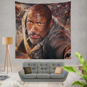 Skyscraper Movie Dwayne Johnson Wall Hanging Tapestry