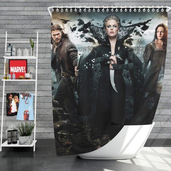 Snow White And The Huntsman Movie Charlize Theron Chris Hemsworth Kristen Stewart Shower Curtain