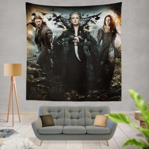 Snow White And The Huntsman Movie Charlize Theron Chris Hemsworth Kristen Stewart Wall Hanging Tapestry