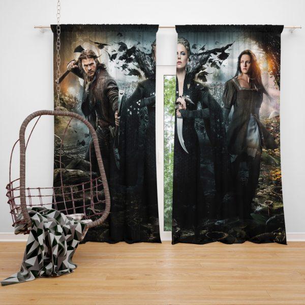 Snow White And The Huntsman Movie Charlize Theron Chris Hemsworth Kristen Stewart Window Curtain