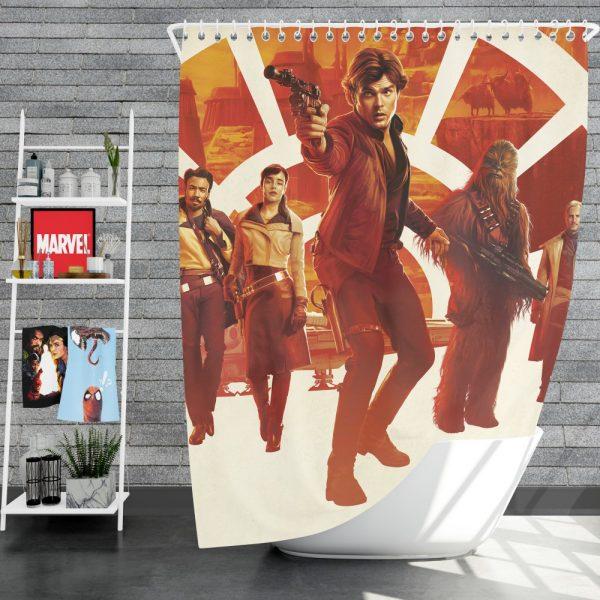 Solo A Star Wars Story Movie Alden Ehrenreich Chewbacca Emilia Clarke Han Solo Qi'ra Shower Curtain