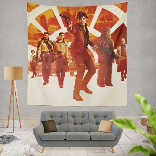 Solo A Star Wars Story Movie Alden Ehrenreich Chewbacca Emilia Clarke Han Solo Qi'ra Wall Hanging Tapestry