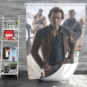 Solo A Star Wars Story Movie Alden Ehrenreich Han Solo Shower Curtain