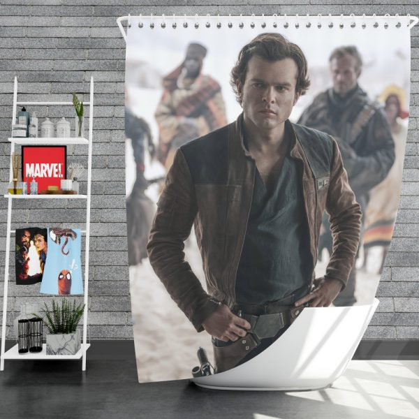 Solo A Star Wars Story Movie Alden Ehrenreich Han Solo Shower Curtain