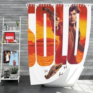 Solo A Star Wars Story Movie Alden Ehrenreich Han Solo Star Wars Shower Curtain