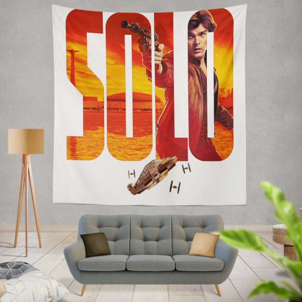 Solo A Star Wars Story Movie Alden Ehrenreich Han Solo Star Wars Wall Hanging Tapestry