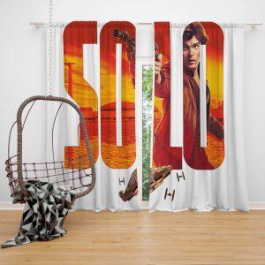 Solo A Star Wars Story Movie Alden Ehrenreich Han Solo Star Wars Window Curtain