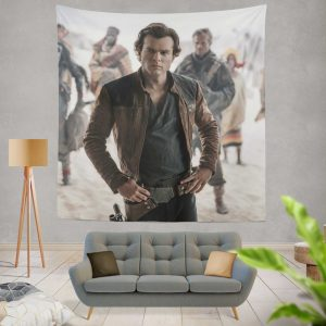 Solo A Star Wars Story Movie Alden Ehrenreich Han Solo Wall Hanging Tapestry